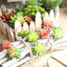 Mini Fake Succulents Plants Aloe Artificial Succulent Plants Landscape Stems Flowers Ornaments For Home Garden Decor DF68570