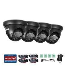 ANNKE (4) pcs 1280TVL En Plein Air Fixe Dôme Caméras avec Ip66 étanche Jour/Nuit Vision,
