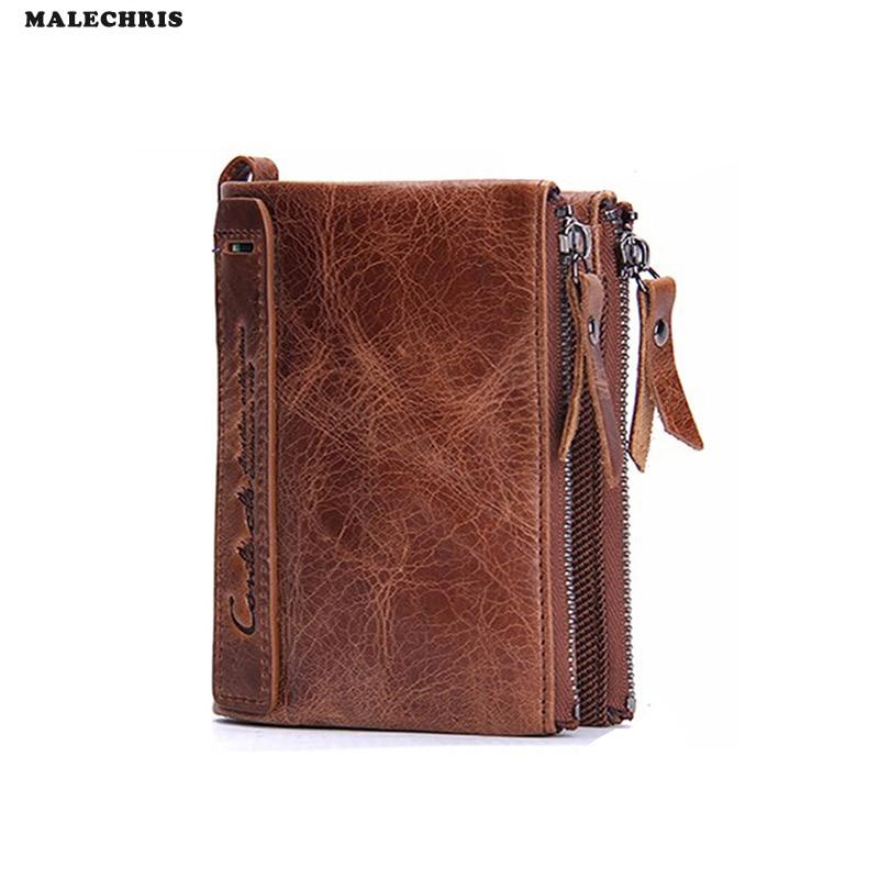 Men Wallet PU Short Bag Mens Black Multi-card Bit Purse Leather Wallet