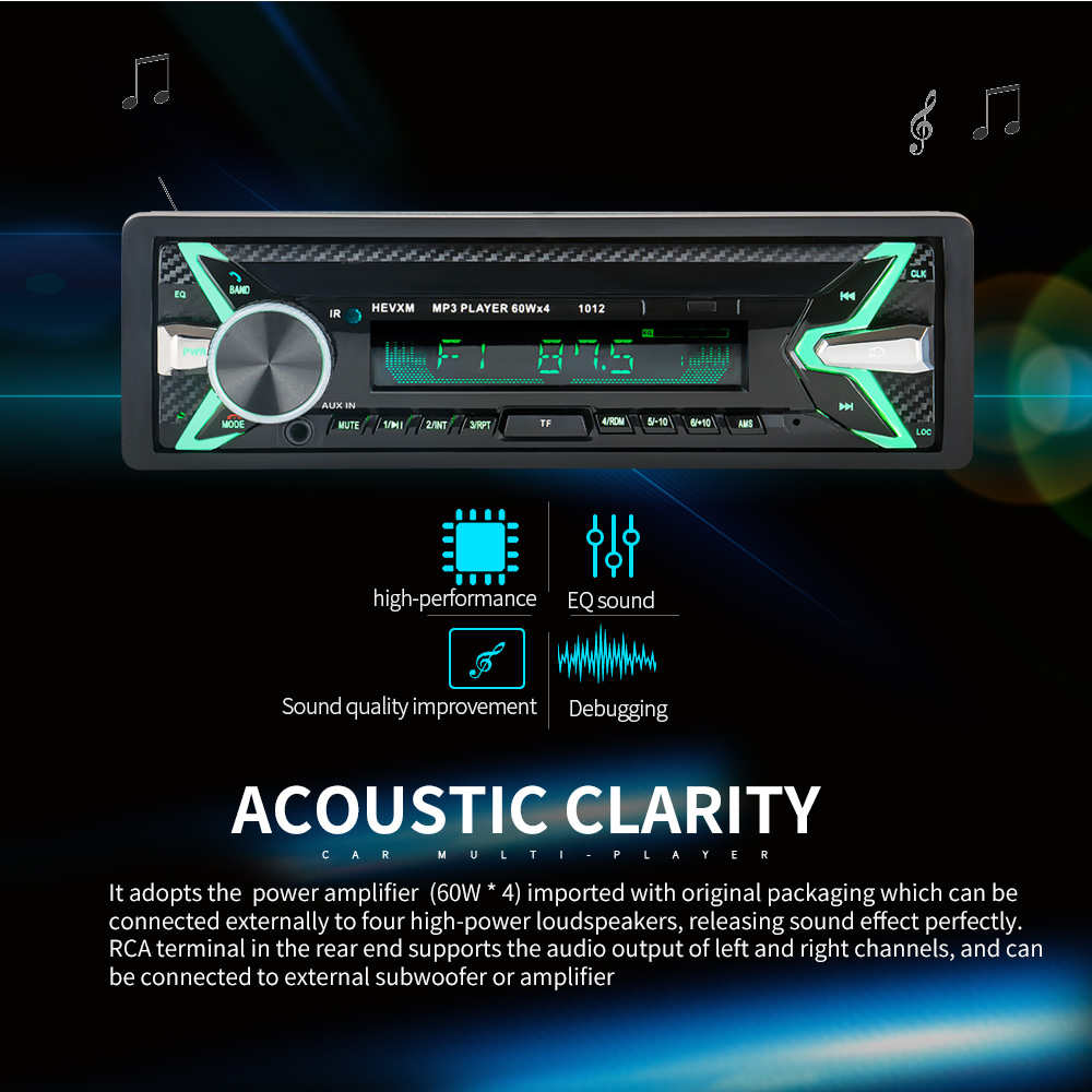 Car Radio Automobiles automagnitol 12V Bluetooth V2.0 SD USB MP3Car Audio Stereo In-dash 1 Din FM Aux Input Receiver Auto radio