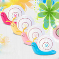 Cute Cartoon Snail Shape USB Rechargeable Night  Projection Lamp Warm White For Baby&Kids