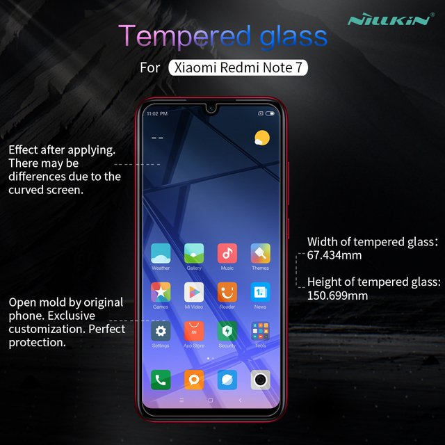 Redmi Note 7 Pro Glass Nillkin Amazing H 0.33MM Screen Protector Tempered Glass for Xiaomi Redmi Note 8 Pro 7S 8T Note7 Note8