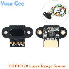 Лазерный модуль датчика диапазона TOF10120 10-180 см датчик расстояния RS232 интерфейс UART IEC IIC выход 3-5 в для Arduino с кабелем