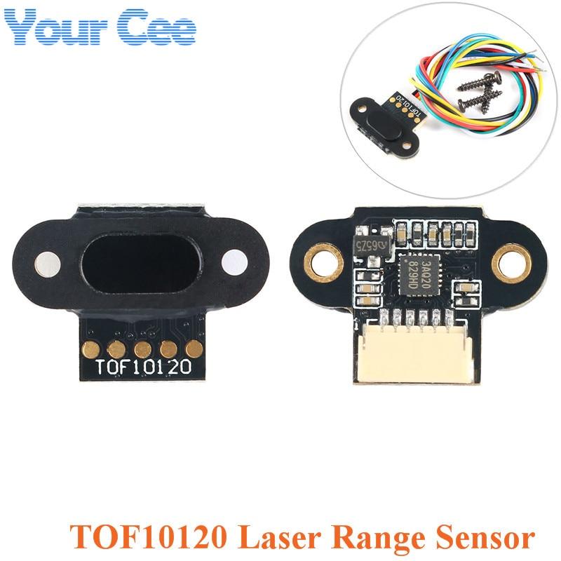 Saída 3-5 v do iic de uart i2c da relação rs232 do sensor da distância do módulo tof10120 10-180cm do sensor da escala do laser para arduino com cabo