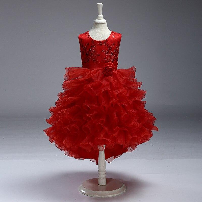 2339 15 De Descuentovestido Rojo De Niña De Las Flores 2019 Para Bodas Vestido De Primera Comunión Para Bebé Niña Vestido De Graduación Vestido De