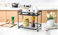 wrought iron spice rack  condiments kitchen have received kitchen floor shelf. Double receive a shelf