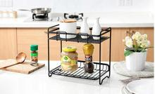 wrought iron spice rack, condiments kitchen have received kitchen floor shelf. Double receive a shelf