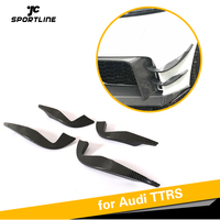 For Audi TTRS Carbon Fiber Front Bumper Air Vent Fender Trims Decoration 2016 2017 2018