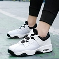 Air Sport Basket Shoes For Men Casual Solid Breathable Walking Shoes Unisex Trainers Superstar Zapatillas Mujer Black White