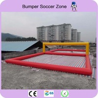 Free Shipping 12*6 Inflatable Water Sports Games Inflatable Volleyball Field Inflatable Beach Volleyball Field Free a Pump