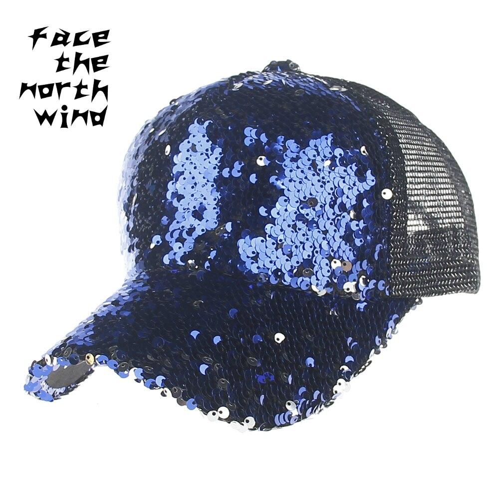 European style New summer Sequin hat Men and women section Baseball NET hat Beads  sun permeability Peaked cap