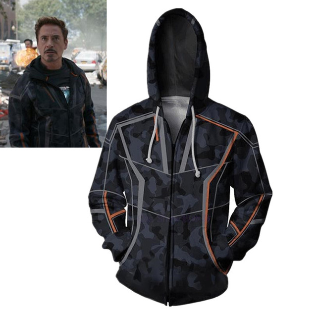À Capuche Infinity War Cosplay Avengers Stark Tony Homme Costume Fer FRvdPYq
