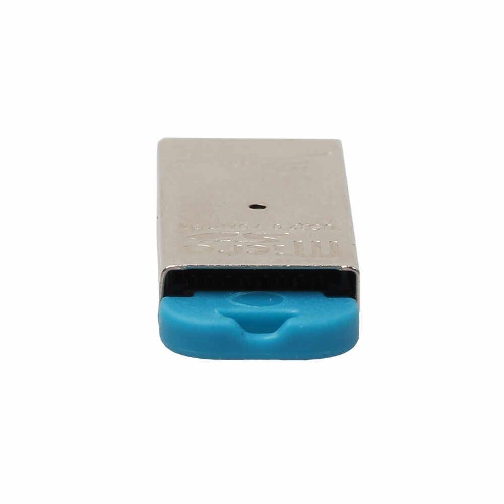 قارئ بطاقات عالية السرعة البسيطة USB 2.0 مايكرو SD TF T-فلاش ذاكرة محوّل قارئ البطاقات 480 150mbps للكمبيوتر/ماك الكمبيوتر مع USB ميناء