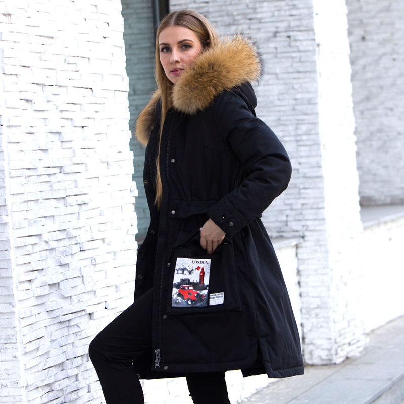 Real Raccoon Fur 2018 Winter Jacket Women   Down   Parkas Women's Duck   Down     Coat   Warm Feather Parka Womens Winter Jackets And   Coats
