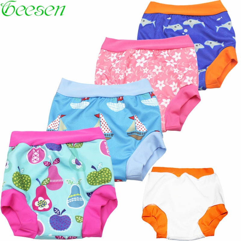 Pantalones de natación de pañales de natación de bebé de cintura - Pañales y entrenamiento para ir al baño