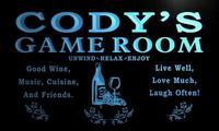 x0245-tm Cody's Game Room Wine Custom Personalized Name Neon Sign Wholesale Dropshipping On/Off Switch 7 Colors DHL