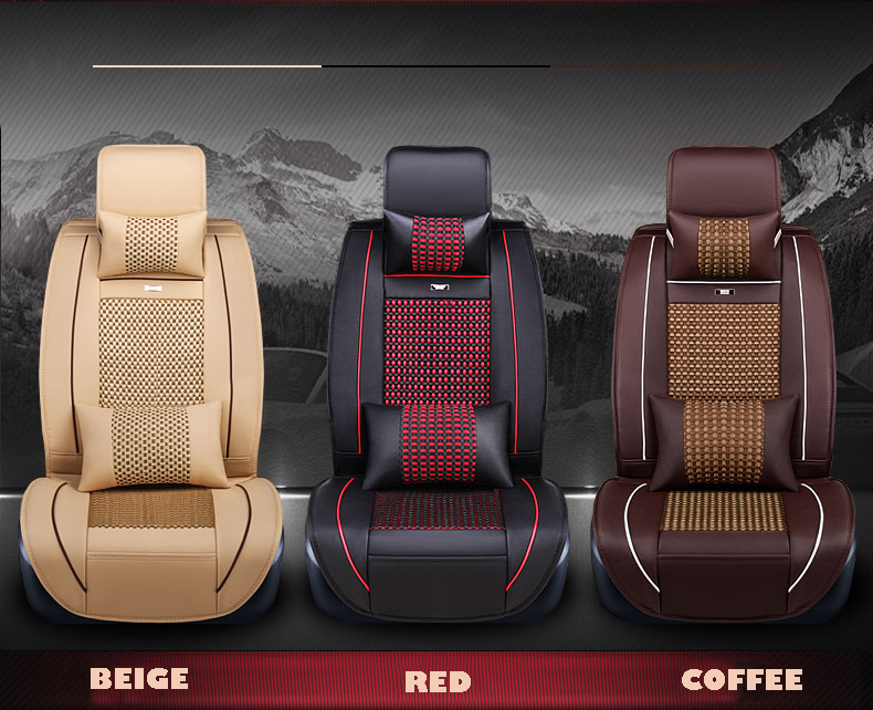 Universal Leather car seat covers front rear cushion for KIA soul TOYOTA COROLLA peugeot 307 ford auto accessories car styling