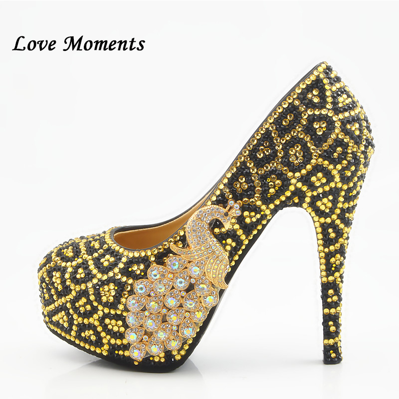 La Mariage Plus 43 Heel Taille Heel Haute Bout Paon Chaussures 34 Femme D'amour 14cm Strass De Moments forme Rond 8cm Partie Plate Heel 11cm XxaqOnpA
