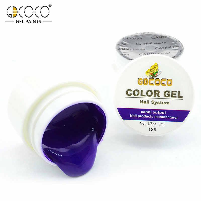GDCOCO 5ml สีจิตรกรรมเจล Soak off UV เล็บเจลสี GEL เล็บ Art Design professional เล็บเจล