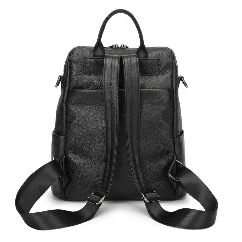 ZENCY 100% Мягкая натуральная коровья кожа плечо туристический рюкзак для женщин Женская Натуральная воловья сумка вечерние повседневные Рюкзаки