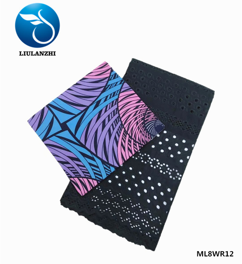LIULANZHI africain dentelle tissu ankara cire néerlandais tissu cire nouveau design africain style dentelle tissus ML8WR15 - 6