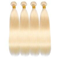 Queenlike Hair Products 4 pieces Brazilian Hair Weave Bundles Color 613 Straight Hair Bundles Remy Blonde Human Hair Bundles