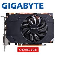 ПК настольный GIGABYTE Видеокарта gtx 960 2 GB 128Bit GDDR5 видеокарты для nVIDIA VGA карты Geforce GTX960 Dvi Hdmi используемая игра