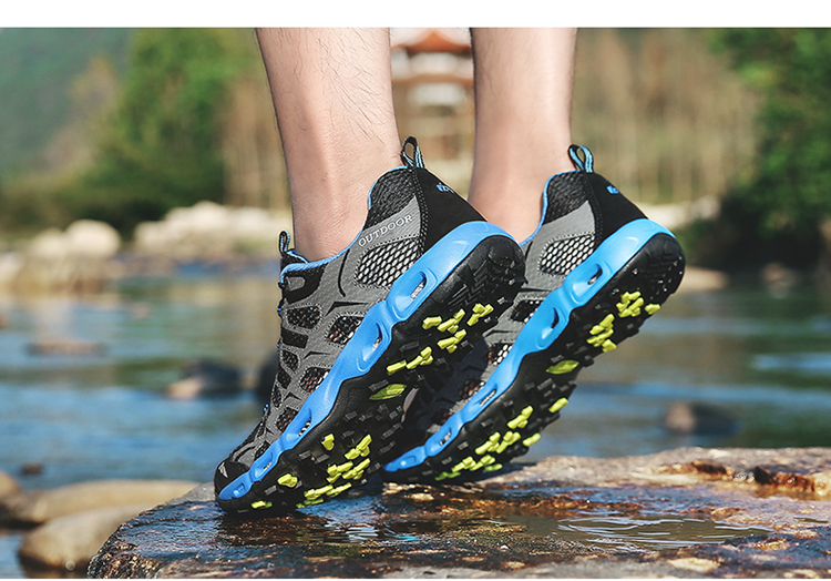 New 2017 Summer Unisex Aqua Shoes Air Mesh Clorts Outdoor Shoes Women Sneakers Lace Up Breathable Hiking Shoes Size 35-44 V1 (35)