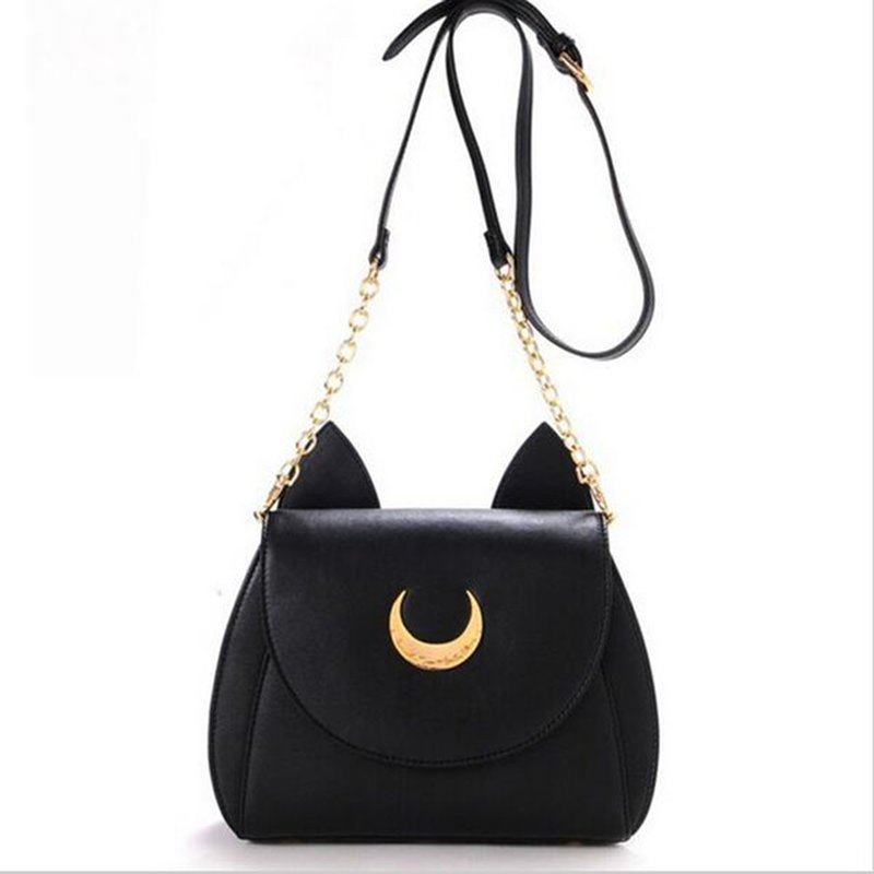 Hot Fashion Style Bags Famous Cute Design Women Messenger Bag Moon Flap Sailor Moon Bag Handbags Cat Crossbody Shoulder Bags