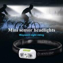5W Mini Rechargeable LED Headlamp Body Motion Sensor LED Head Light Lamp Lantern USB Waterproof Head Flashlight Torch Light