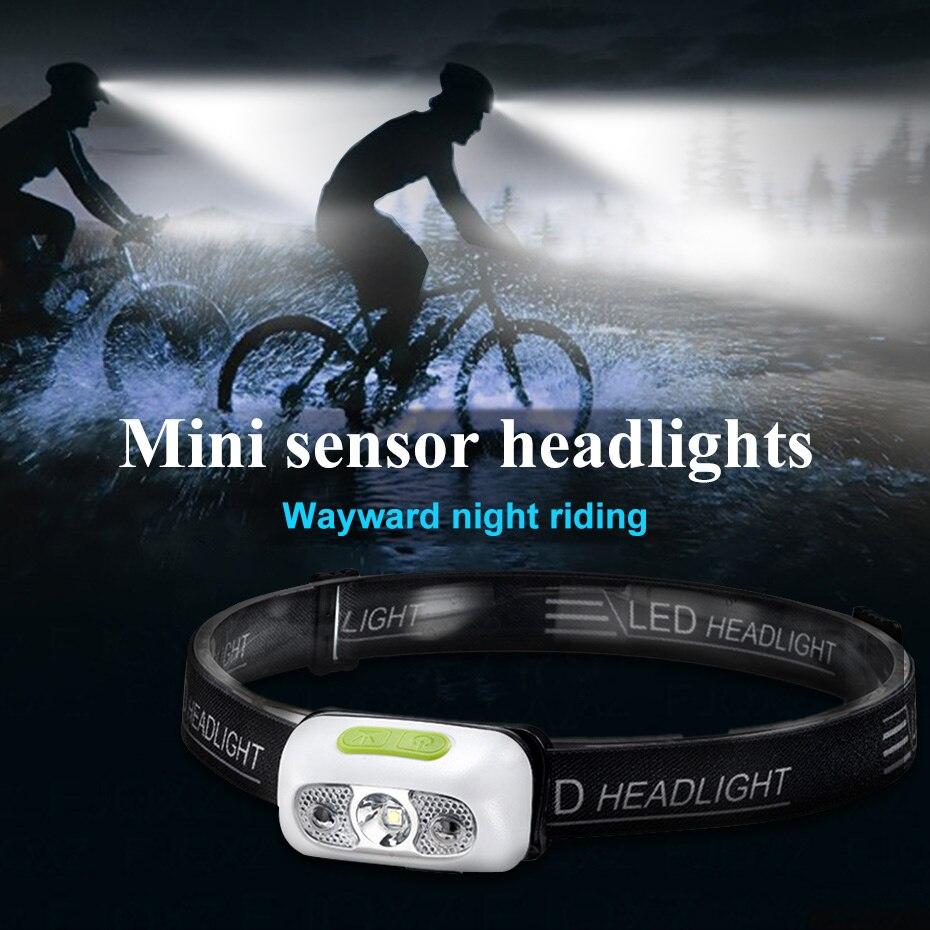 5W Mini Wiederaufladbare LED Scheinwerfer Körper Motion Sensor LED Kopf Licht Lampe Laterne USB Wasserdichte Kopf Taschenlampe Licht