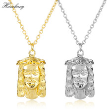 HANCHNAG Jewelry 3D Egyptian Pyramid pharaoh Necklaces pendants Hip Hop Gifts Bling Necklace Men Women Cosplay Xma's Gift(China)