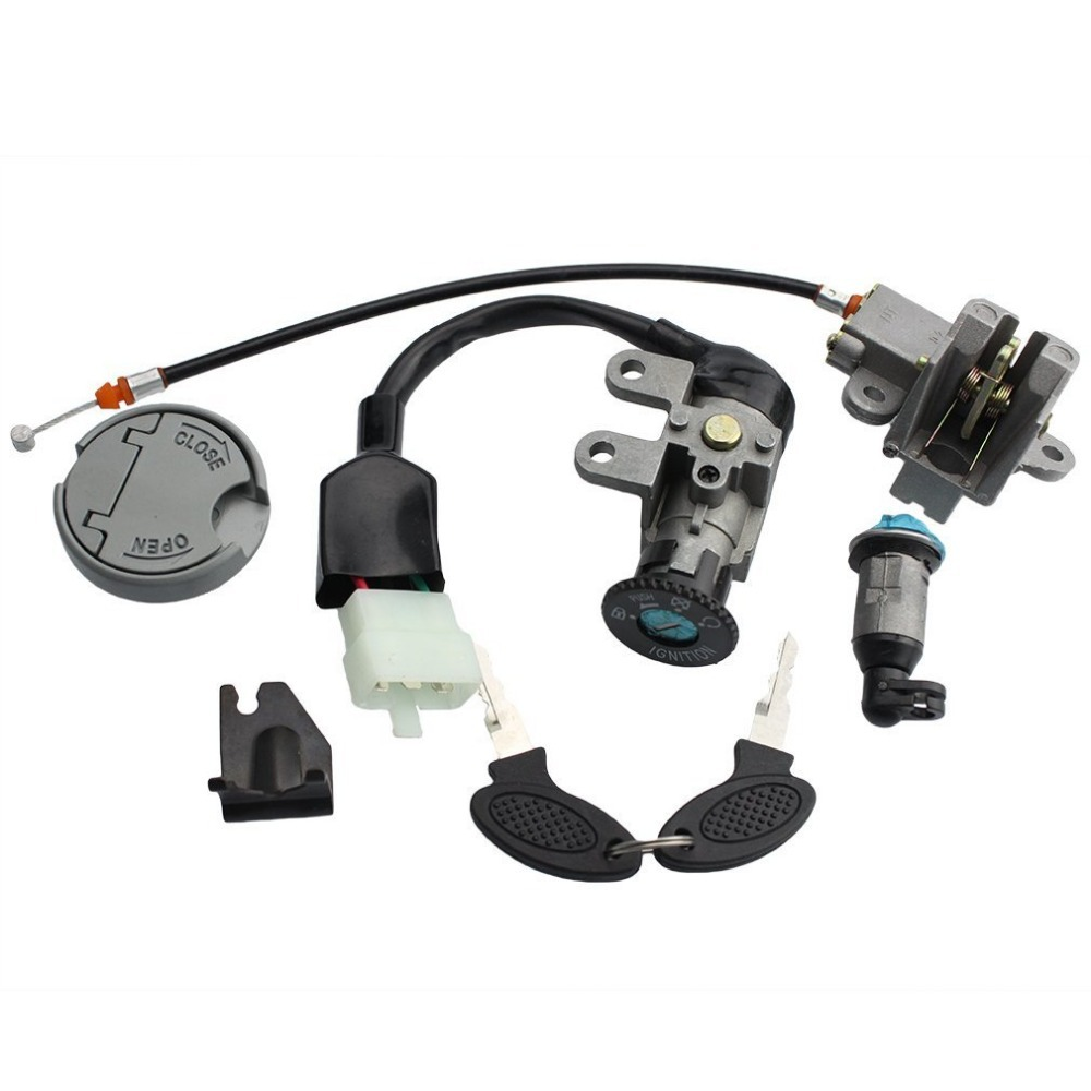 US $16 78 32% OFF|GOOFIT Ignition Switch Key Set for GY6 49cc 50cc 139QMB  Chinese Scooter Moped Group 102-in Motorbike Ingition from Automobiles &