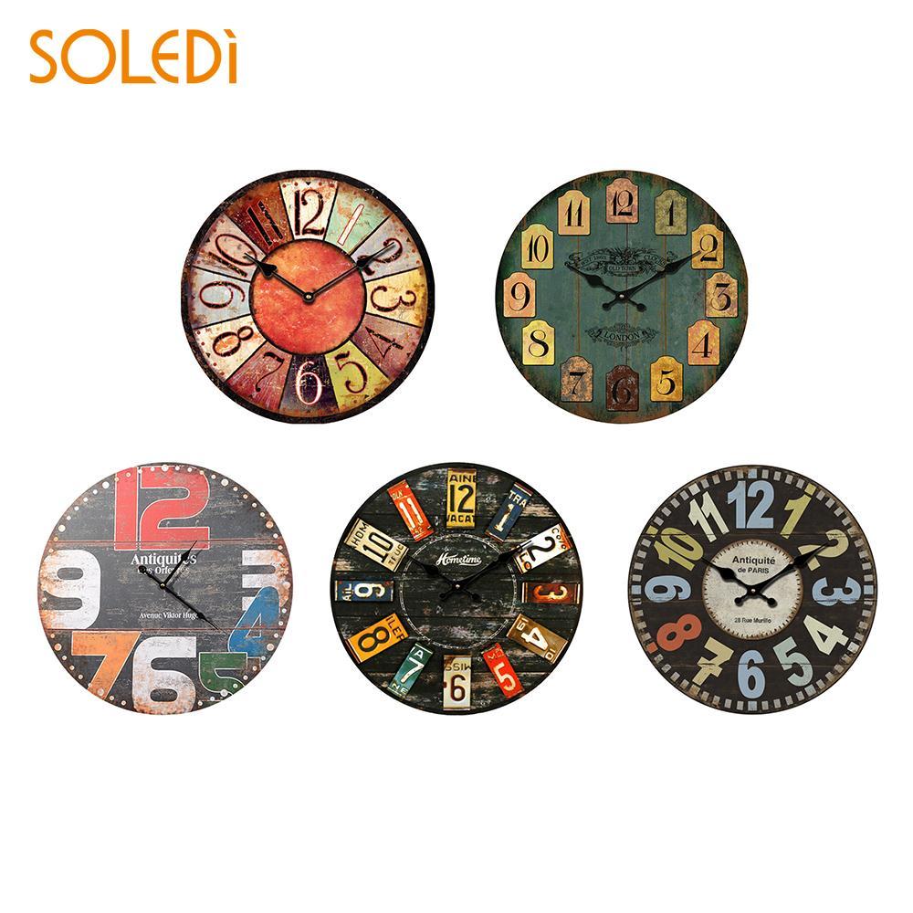 Wooden 30Cm Digital Wall Clock Decoration Watch Quartz Wall Clock Hanging Mute Clocks Home Decoration Kitchen Office Gift