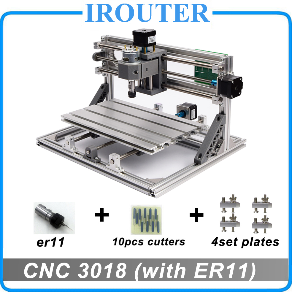 CNC3018 withER11,diy mini cnc engraving machine,laser engraving,Pcb PVC Milling Machine,wood router,cnc 3018,best Advanced toys mini engraving machine diy cnc 3040 3axis wood router pcb drilling and milling machine
