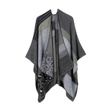 TOLINA wild style Women Knitted Cashmere Poncho Capes Shawl Cardigans Sweater Coat
