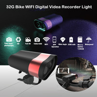 HD 1080P Cycling Headlight Riding Driving Recorder Professional Helmet DVR Light Wifi Action Camera MTB Road Bike Front Light