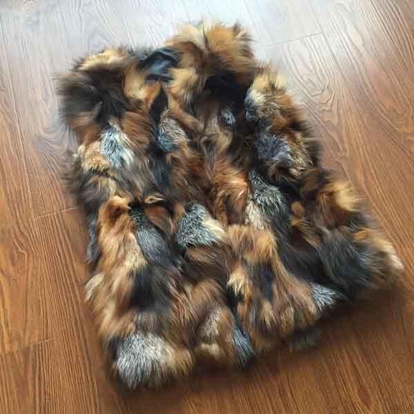 Новое поступление натуральный Лисий мех жилет натуральный Лисий женский зимний жилет Модный FP577 - Цвет: Crystal Color