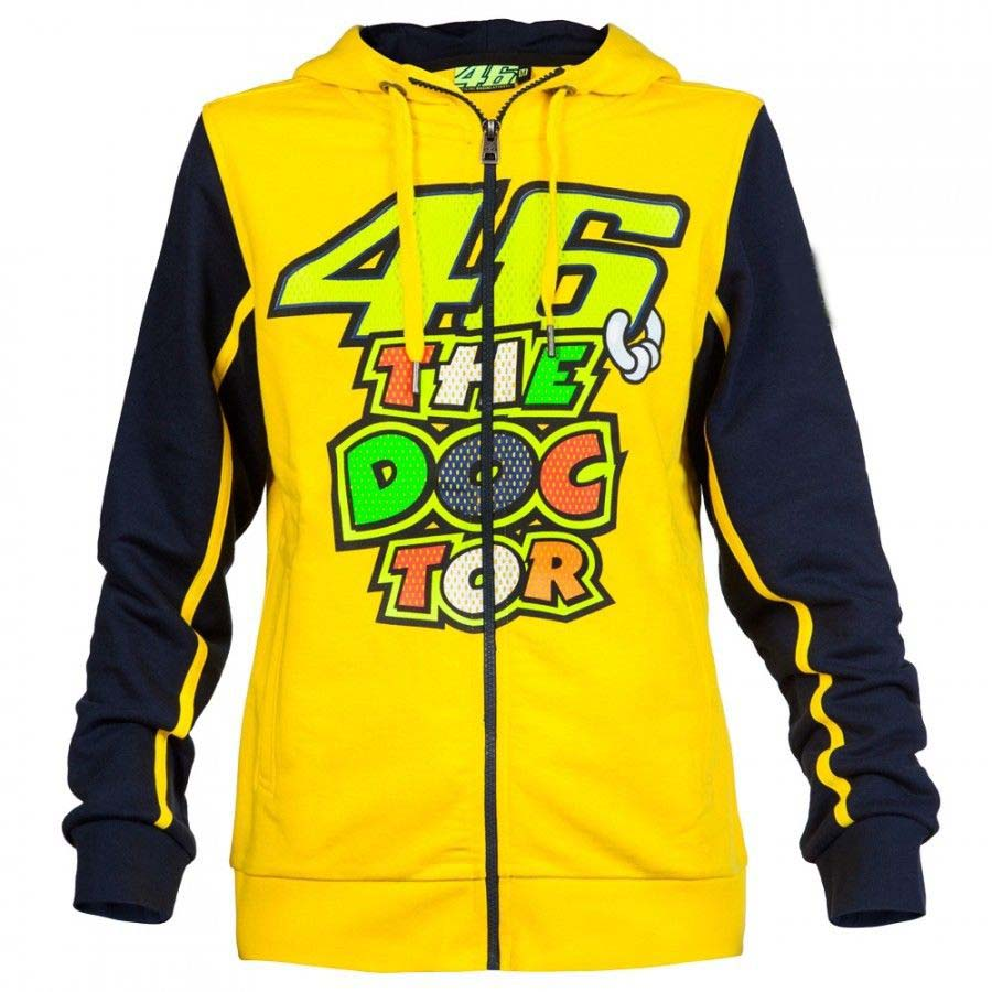 NEW 2016 VR46 Valentino Rossi for Yamaha Motor Mens Zip-up Hoody racing hoodie