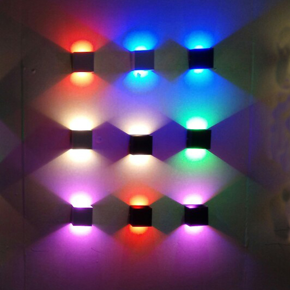 Led Wall Light Rail Project Square Led Wall Lamp Bedside Room Bedroom Lamps Art Projector Cool Warm White Red Blue Pink Green Led Indoor Wall Lamps Aliexpress