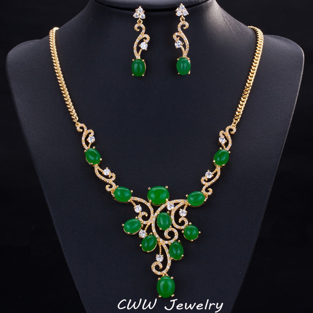 Cwwzircons Vintage Women Evening Party Necklace And