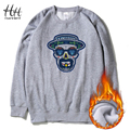 HanHent Heisenberg Skull Sweatshirt Men Thick Printed Long Sleeve Fleece Fashion Breaking Bad Brand Basic Hoodies Couples AD0254