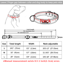 Custome Engraved Pet Dog Collar PU Leather Personalized Dogs Cat ID Collars Free Nameplate Adjustable For Small Medium Pets