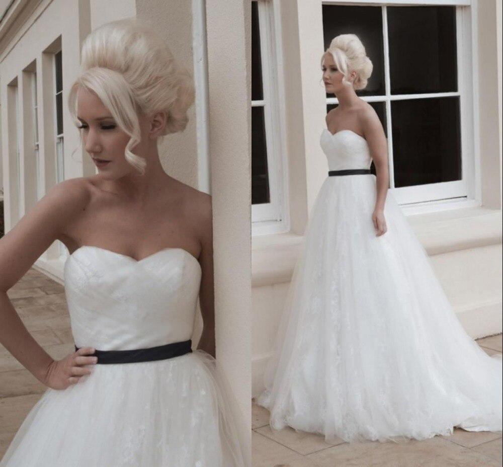 Elegant Wedding Dresses Bridal Sash Chapel Train