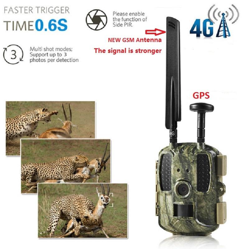 Newest GPS Hunting Camera Digital Video Camera Photo-Traps 4G FDD-LTE Hunting Trail Camera Trap Wild Camera Hunter Foto Chasse