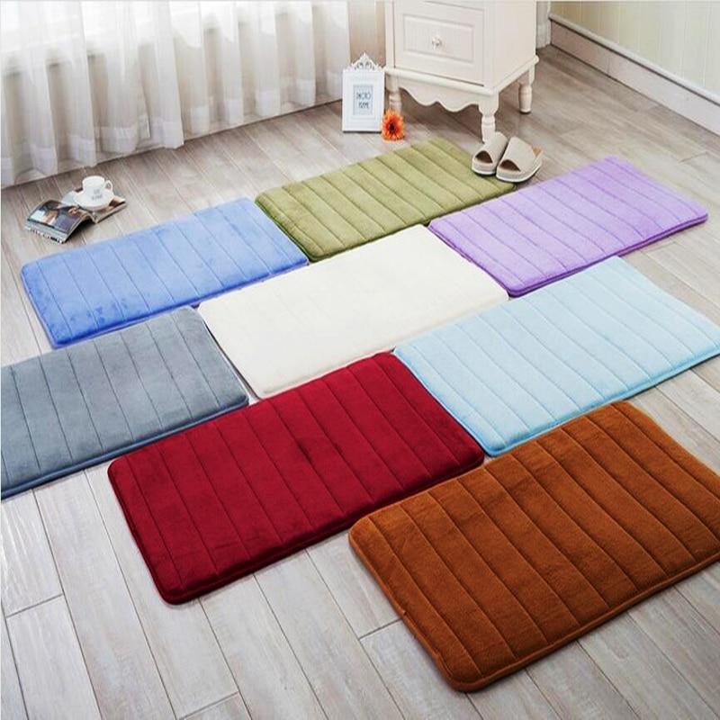 Memory Foam Bathroom Carpet Thickening Microfiber Velvet Mats For Living Room Kitchen Bedroom
