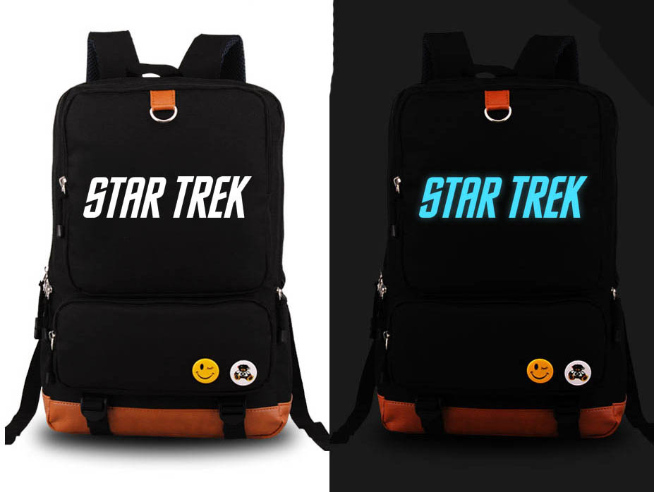 Film Star Trek Backpack Fashion Canvas Student Luminous Schoolbag Unisex Travel Bags