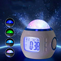 Christmas Music Calendar Creative Multi-funciton Stars Sky Projector Light Up Toy Clock Alarm Glow In The Dark Noctilucent Toys