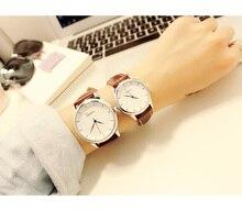 Студент Корейская версия Простой Повседневная атмосфера тенденция мужской женские часы пара тенденции моды