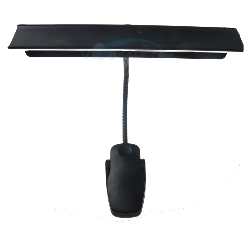 Mosky Music Stand Light Lamp With Adapter Clip-On Desk 2 Modes Gooseneck 9LED Lamp For Guitar Musical Instruments Book Lights